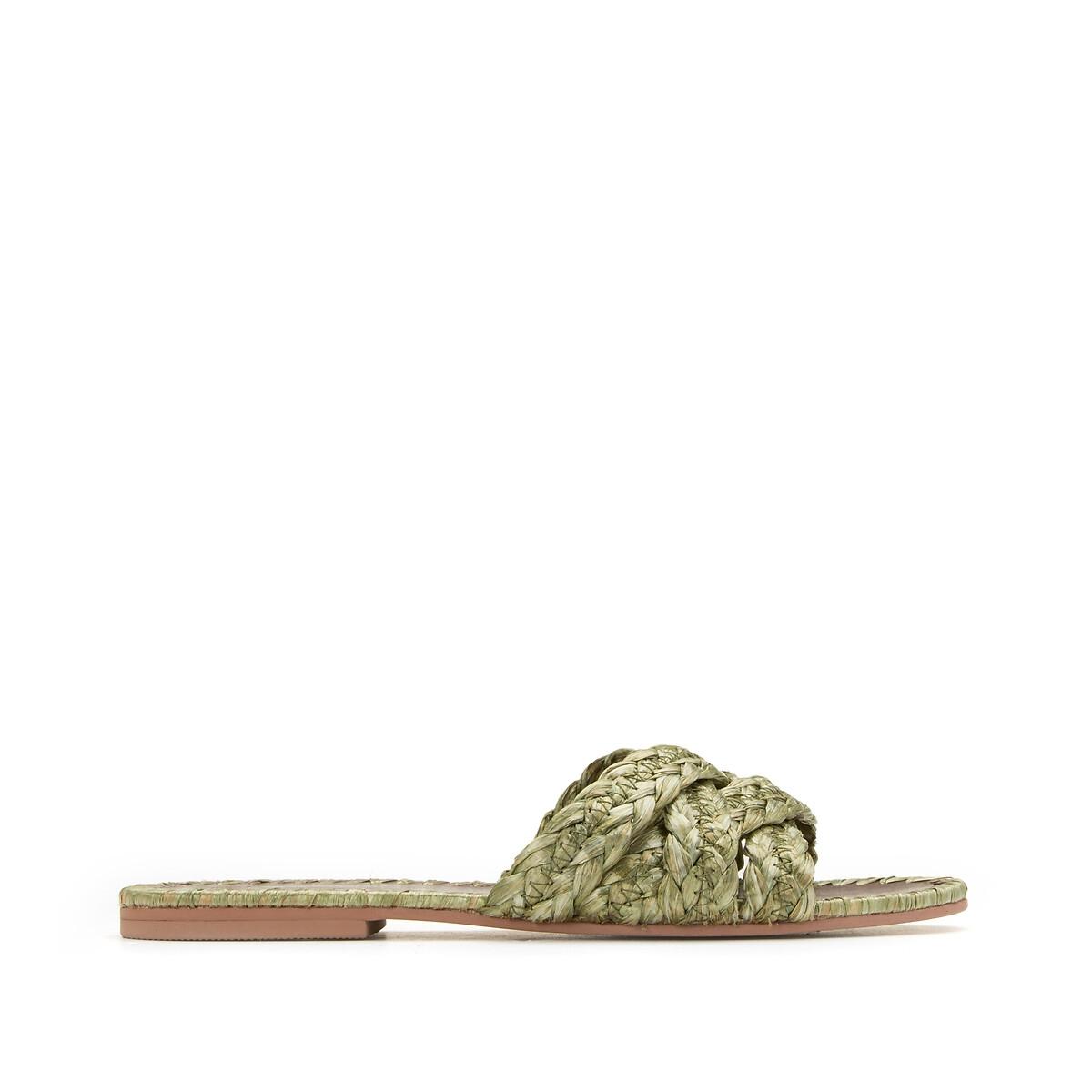 Туфли La Redoute Без задника из рафии 36 зеленый