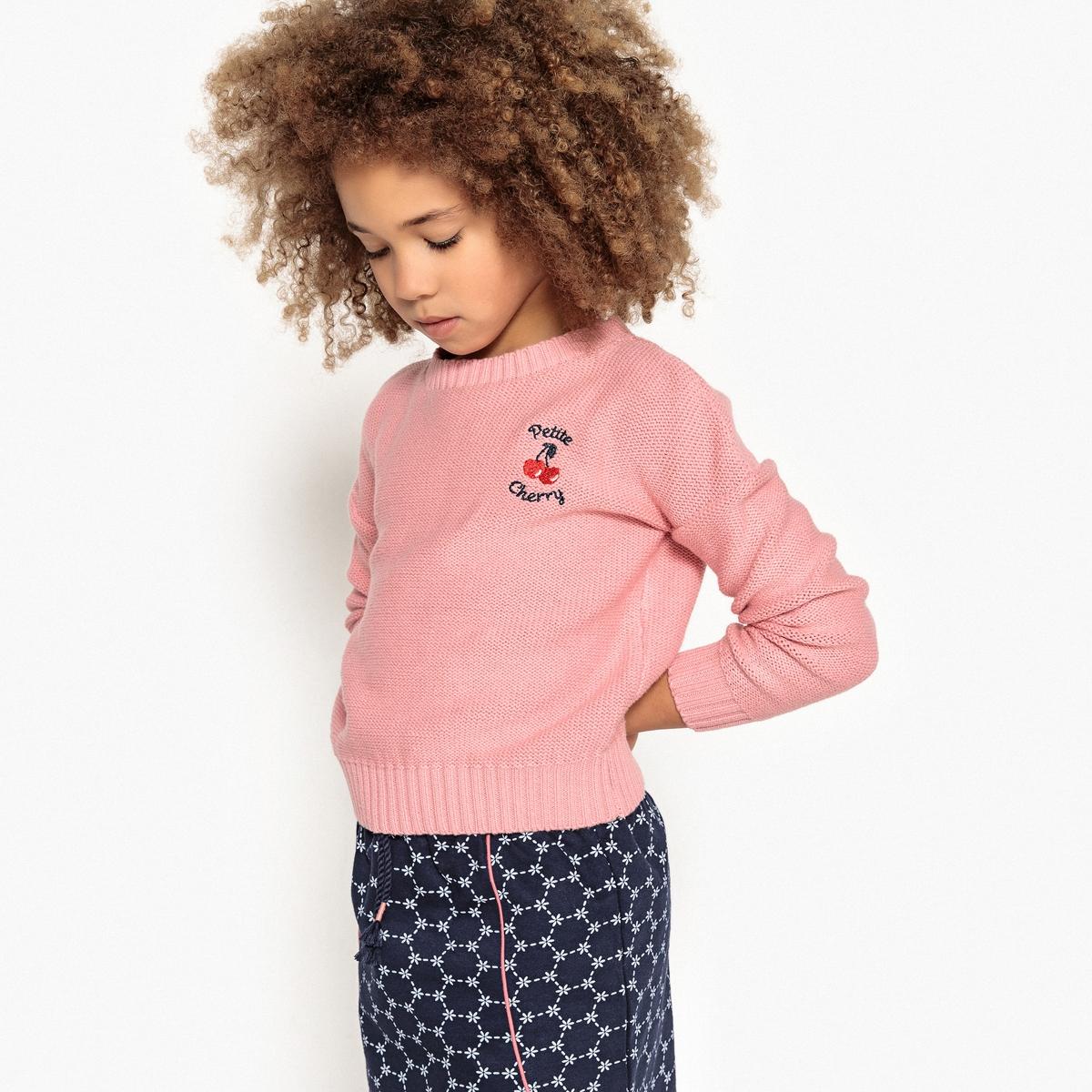 Пуловер с вышивкой petite cherry 3-12 лет
