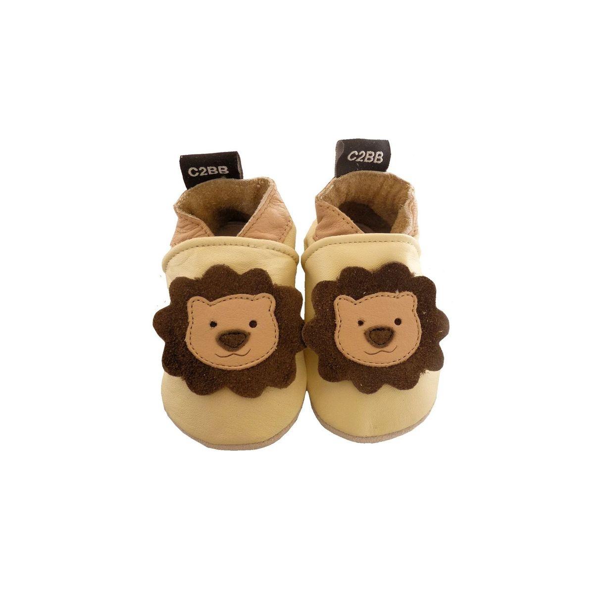 Chaussons en cuir souple PETIT LION