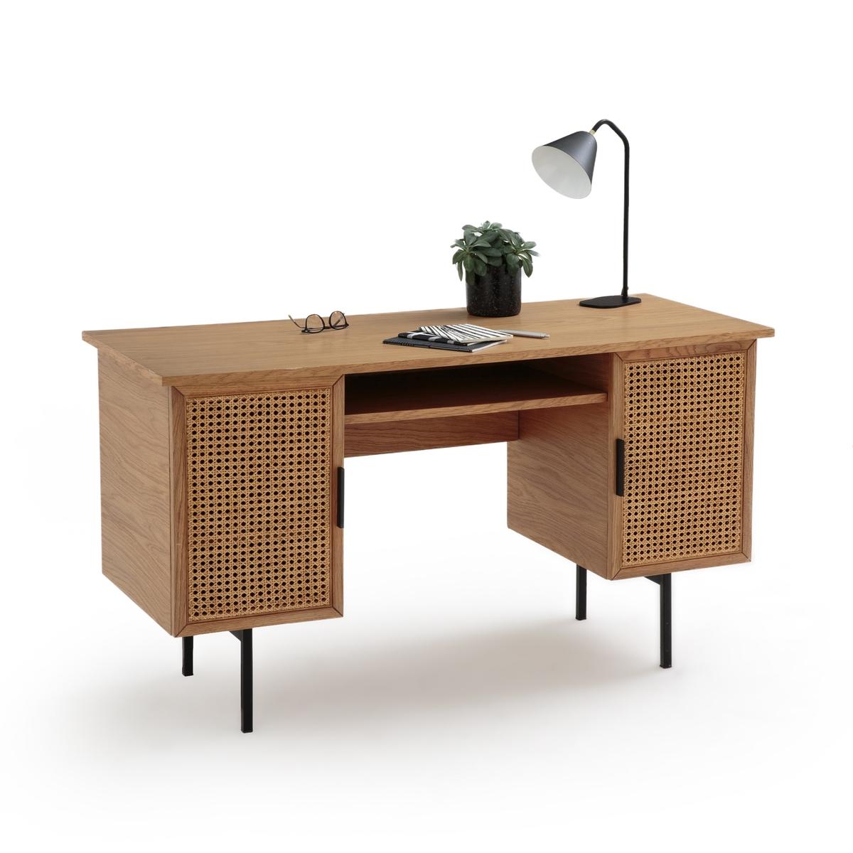 Стол La Redoute Письменный с двумя ящиками Waska единый размер каштановый письменный la redoute стол для кровати чердака duplex единый размер каштановый