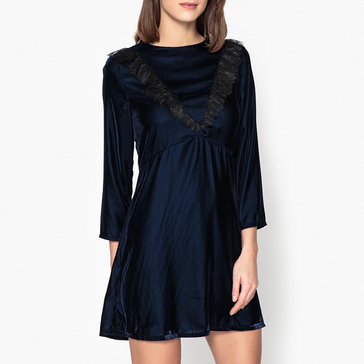 Платье из велюра и кружева FARAH от La Redoute