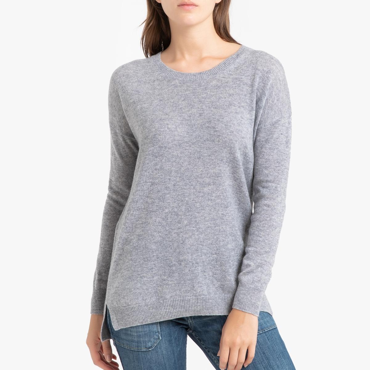 Пуловер La Redoute Кашемировый с круглым вырезом из тонкого трикотажа CHARLOTTE 3(L) серый