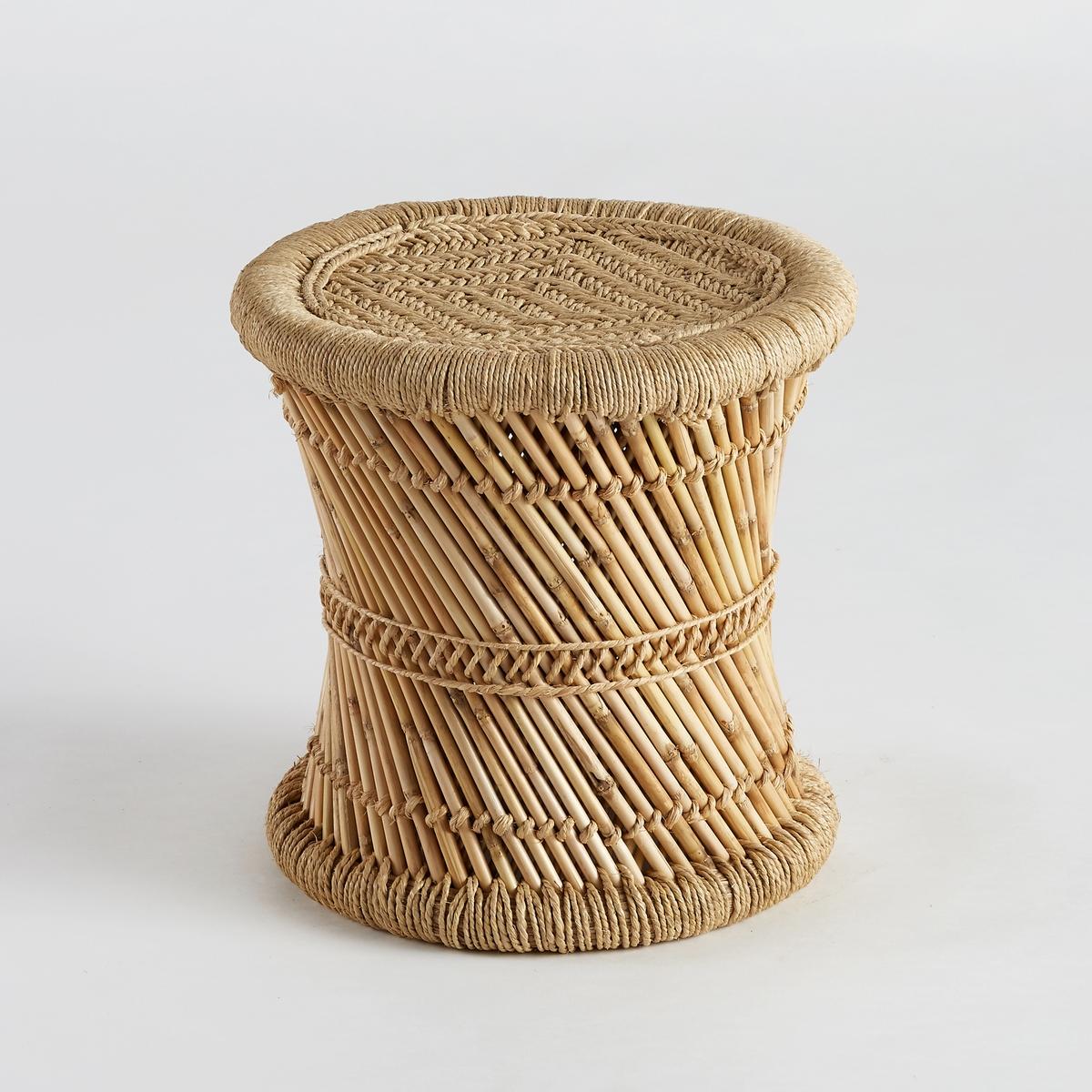 Столик диванный TingdaДиванный столик Tingda. Можно использовать отдельно или в сочетании с другими моделями из нашей коллекции, которые продаются на нашем сайте.Характеристики :- Из плетеного бамбука и веревки из полиэстера. Ручное производство.Размеры  :- диаметр 41 x высота 43 см.<br><br>Цвет: серо-бежевый