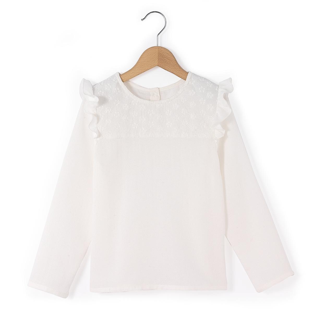 Блузка с длинными рукавами, 3-12 лет