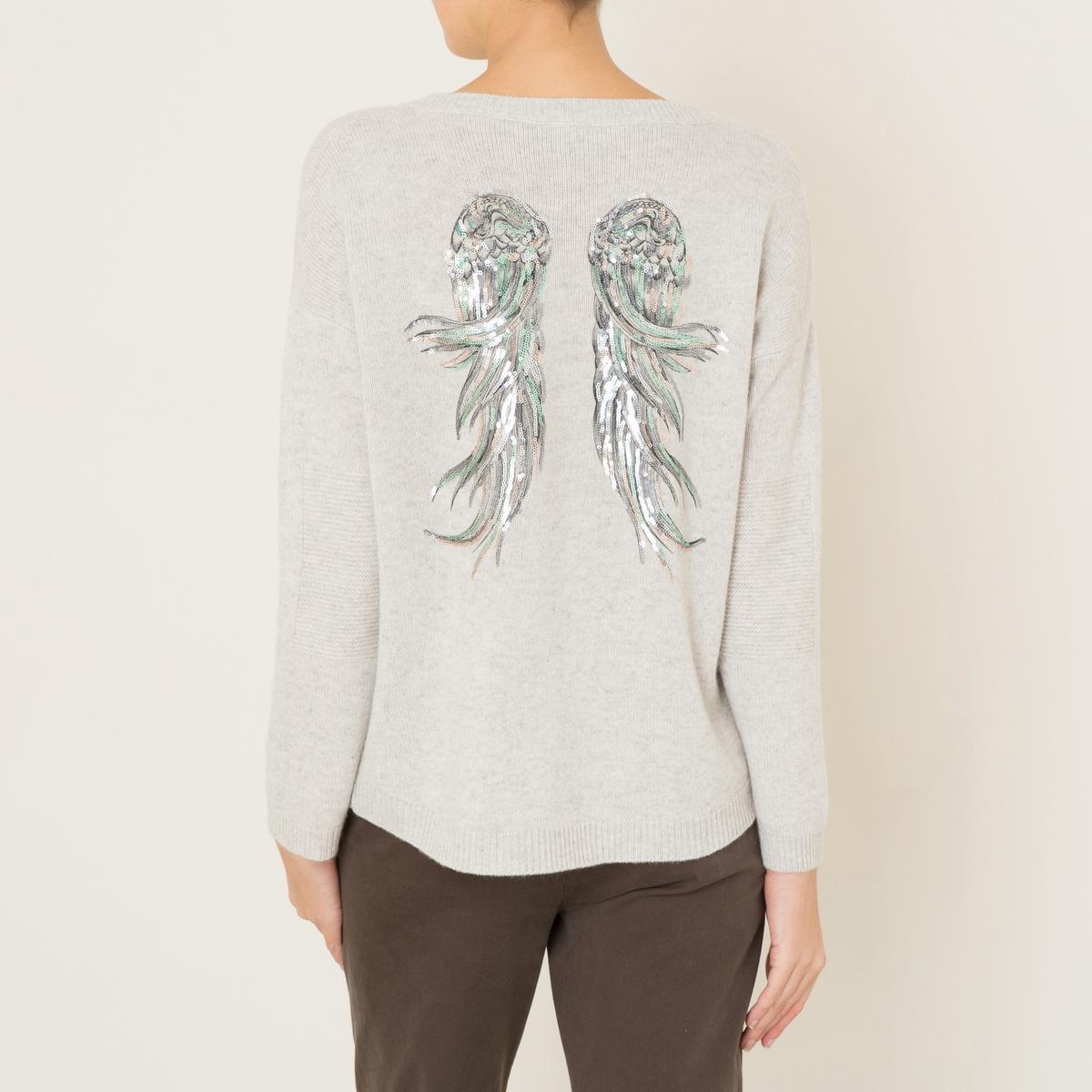 Пуловер LOUСостав и описание :Материал : 100% кашемирМарка : BERENICE<br><br>Цвет: серый меланж