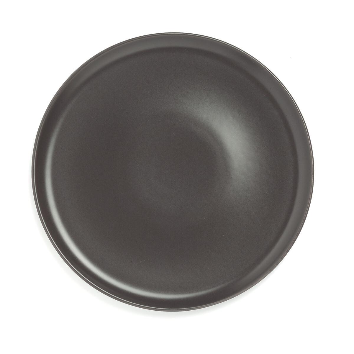 Фото - Комплект из 4 плоских тарелок LaRedoute Orni единый размер черный корзинка laredoute с пластиковой ручкой единый размер черный