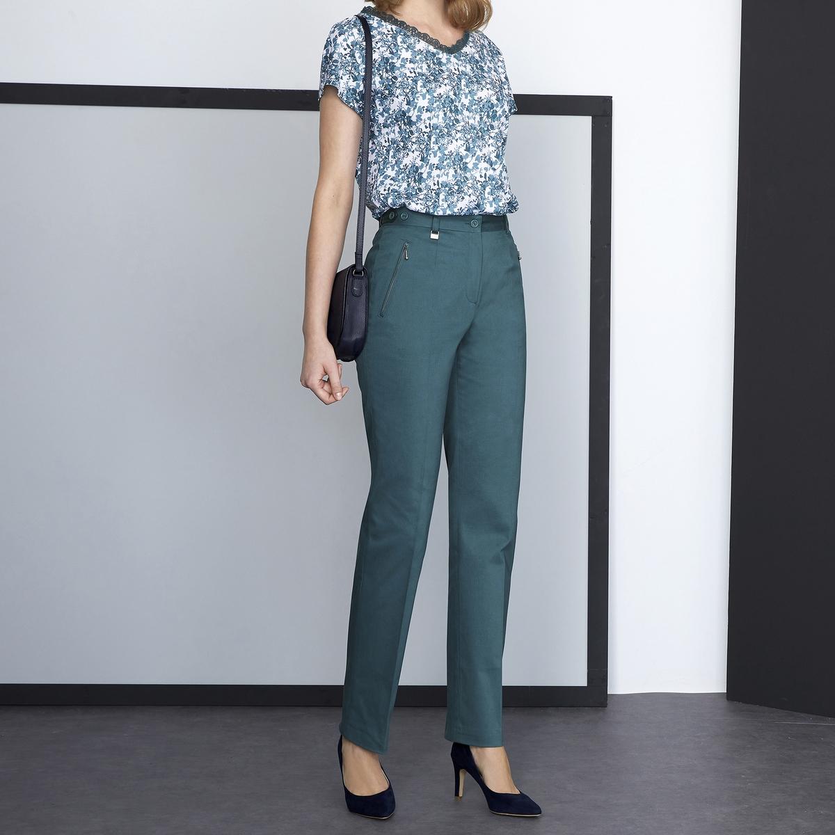 Imagen adicional 2 de producto de Pantalón de satén de algodón stretch - Anne weyburn