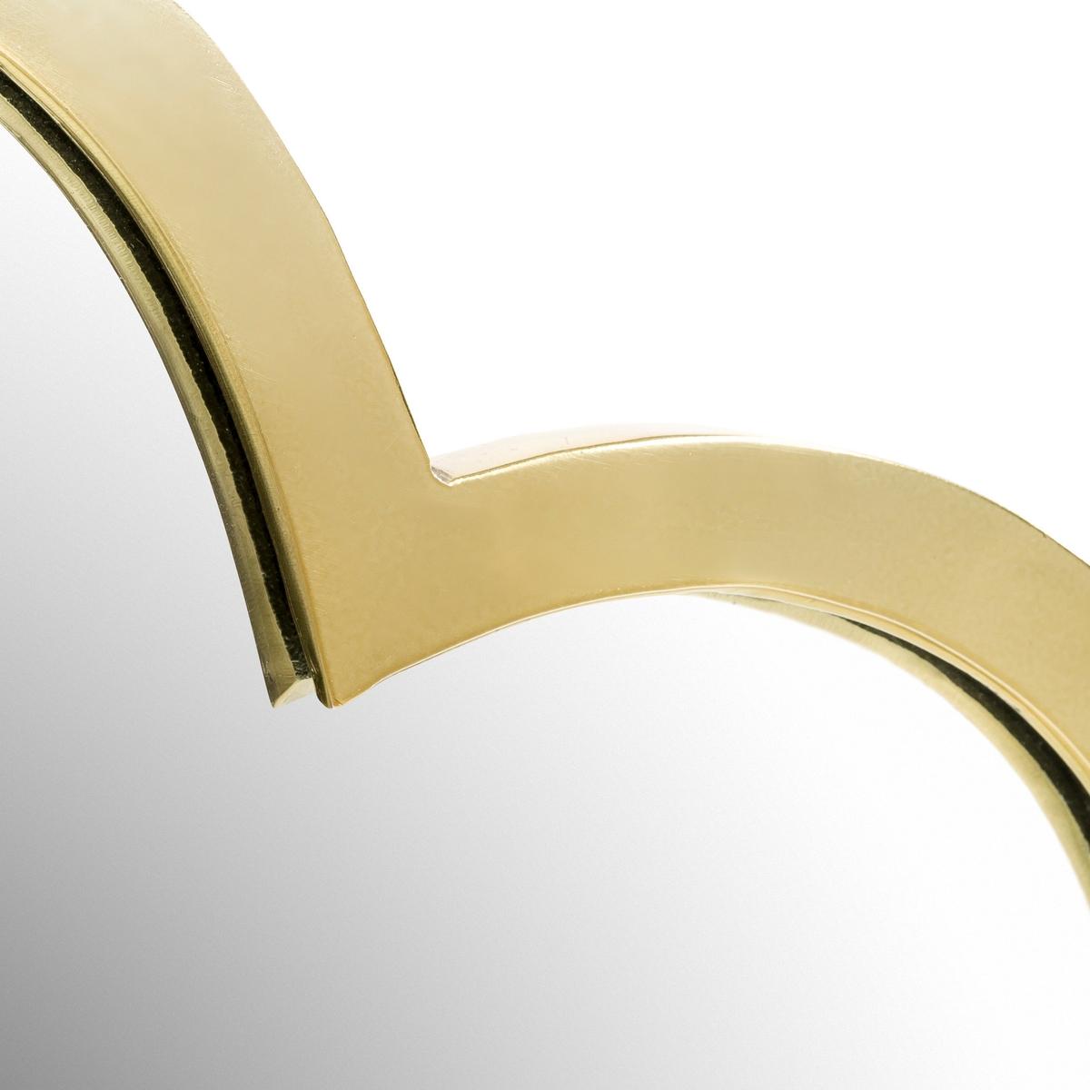 Зеркало в форме облака, из латуни Д45 x В26 см, ZicowiОригинальный романтичный дизайн.Характеристики: :-  Рама из алюминия с латунной отделкой. Размеры :- Ш.45 x В.26 см.<br><br>Цвет: прозрачный