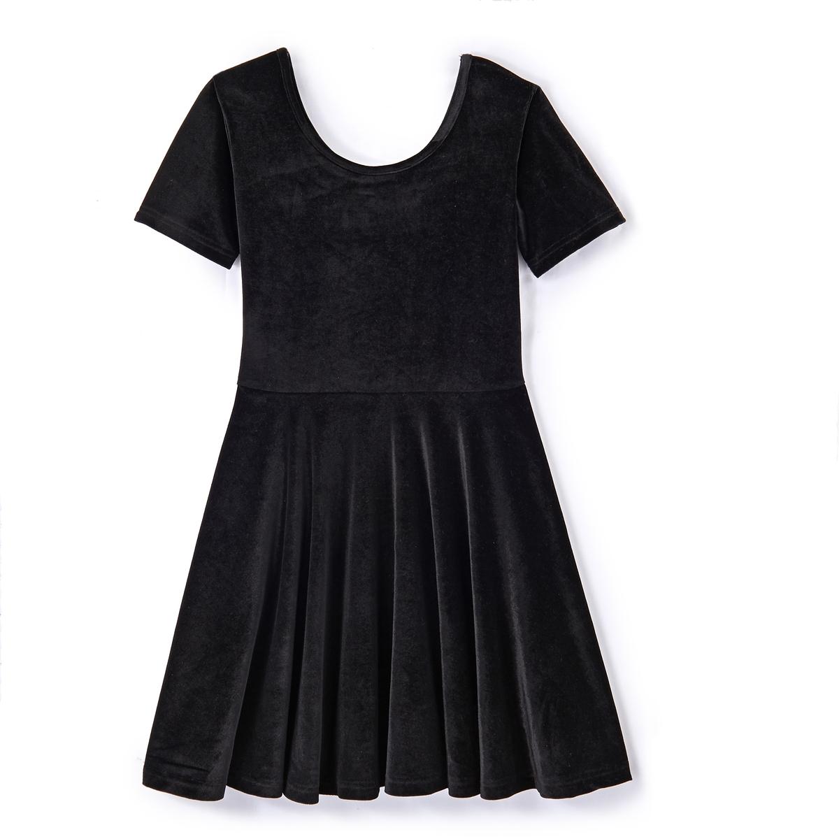 Платье расклешенное из велюра Fête 10-16 лет