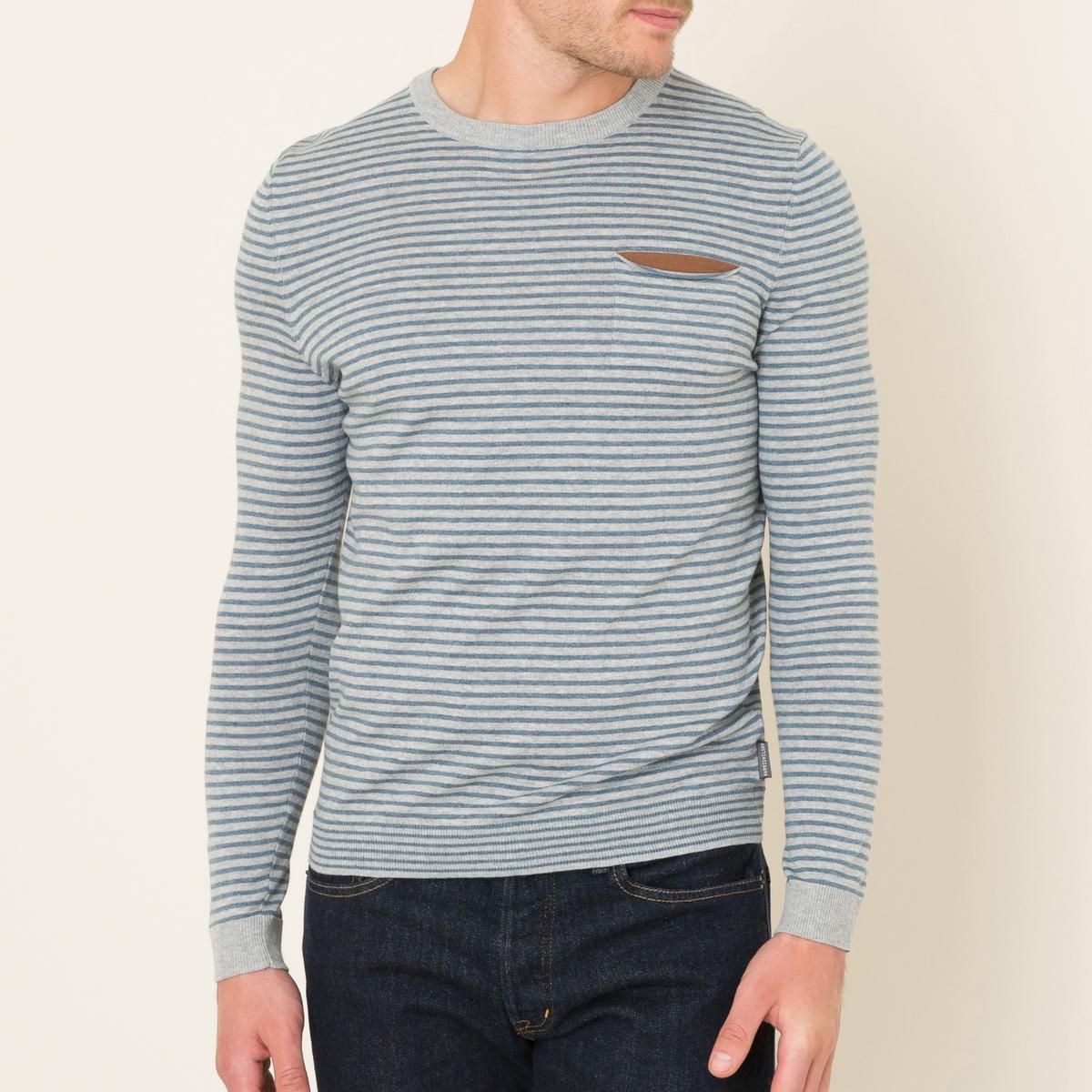 Пуловер DIAPOСостав и описание Материал : 100% хлопокМарка : HARRIS WILSON<br><br>Цвет: сине-серый<br>Размер: XL