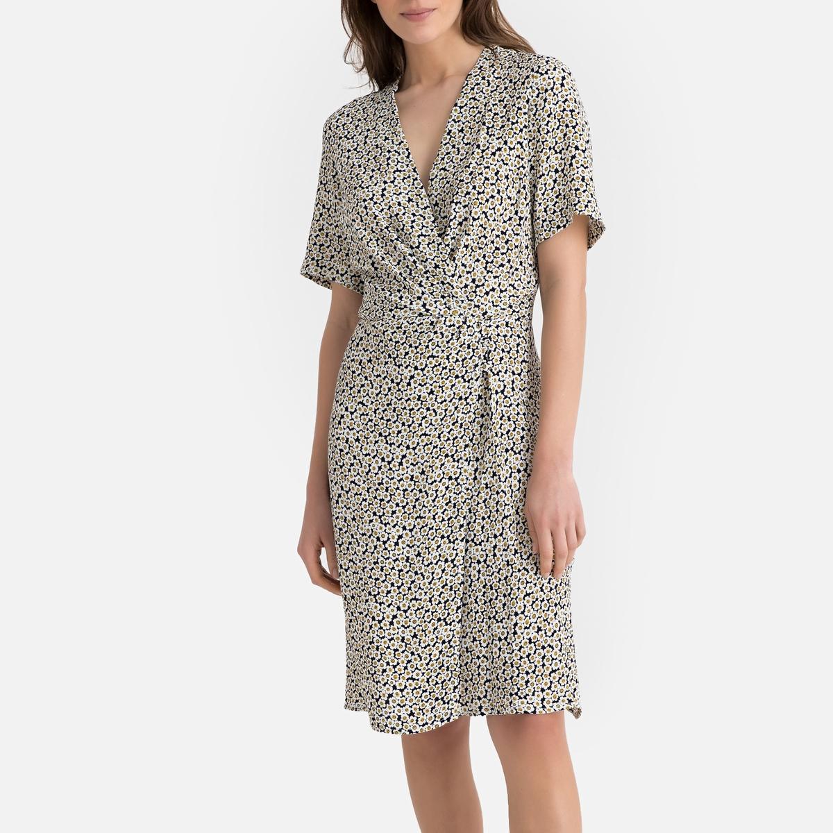 Платье La Redoute С запахом с цветочным рисунком 34 (FR) - 40 (RUS) другие