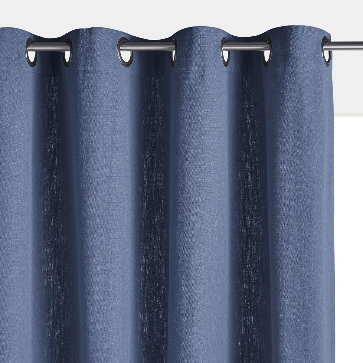 Штора La Redoute В стиле фута ZIRA 260 x 140 см синий штора с люверсами 100% хлопок aron