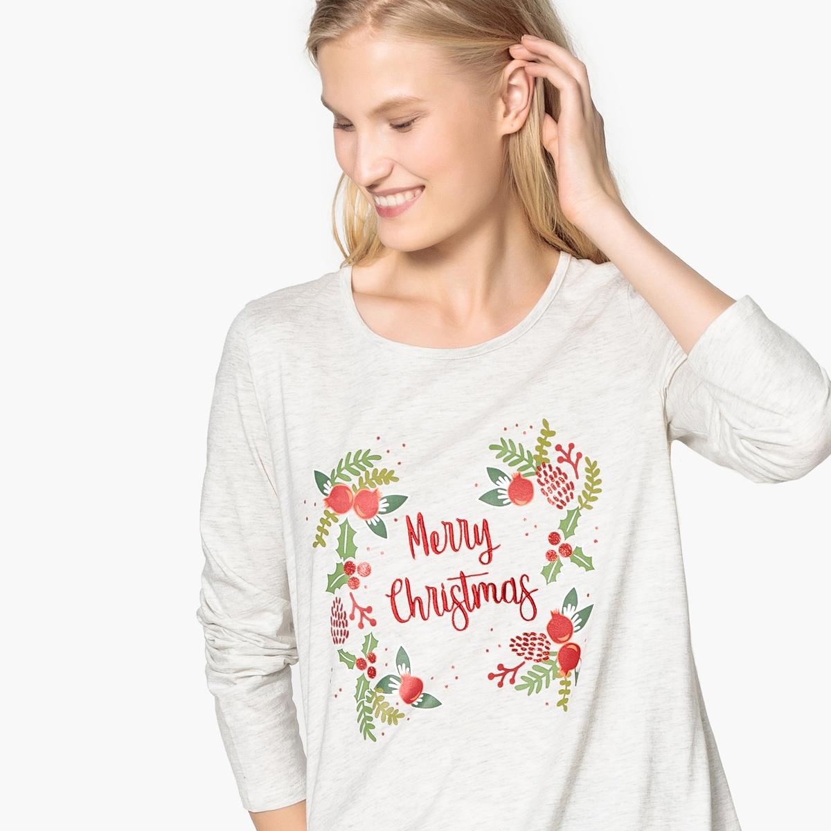 Camisa de dormir, estampado natal