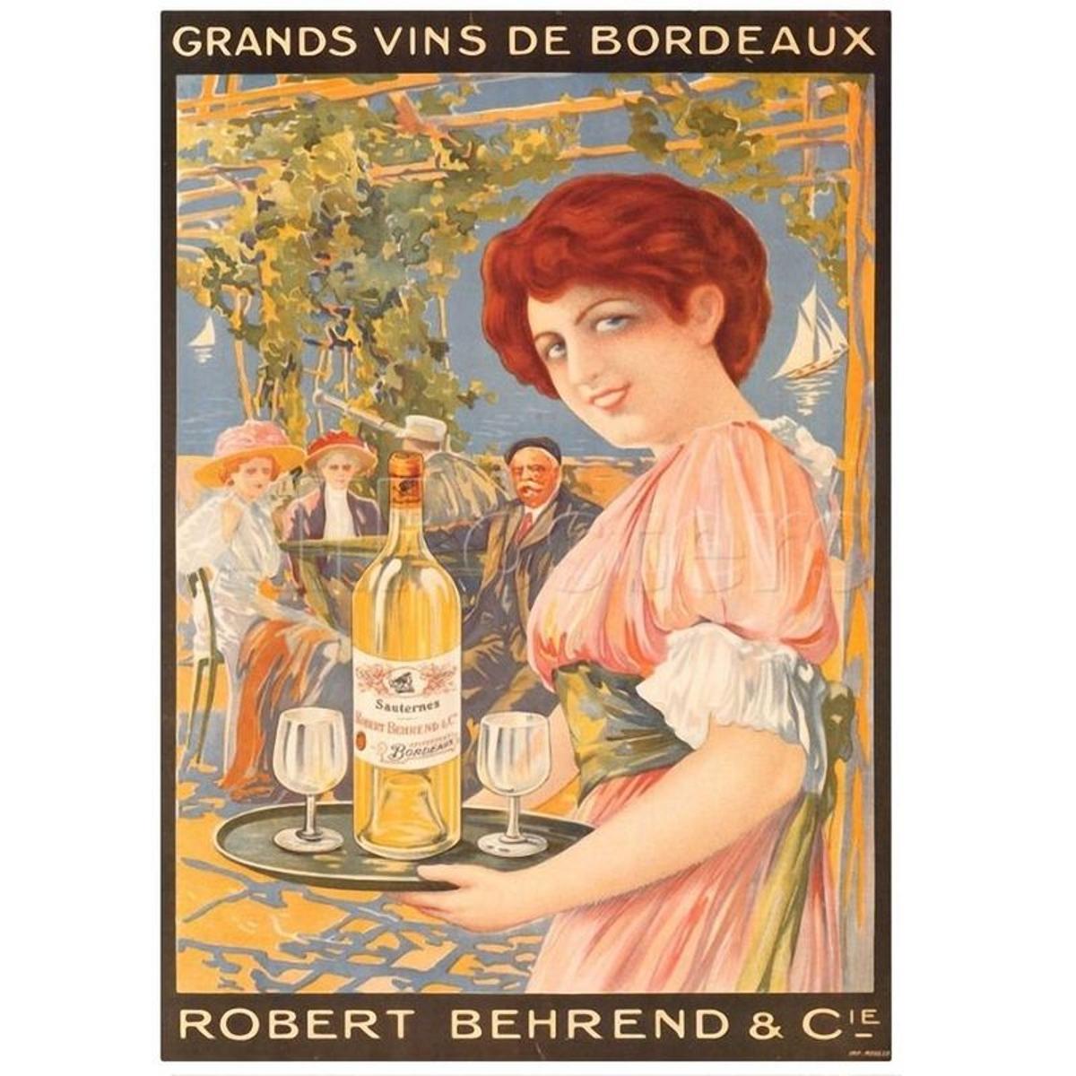 Affiche Vins Bordelais