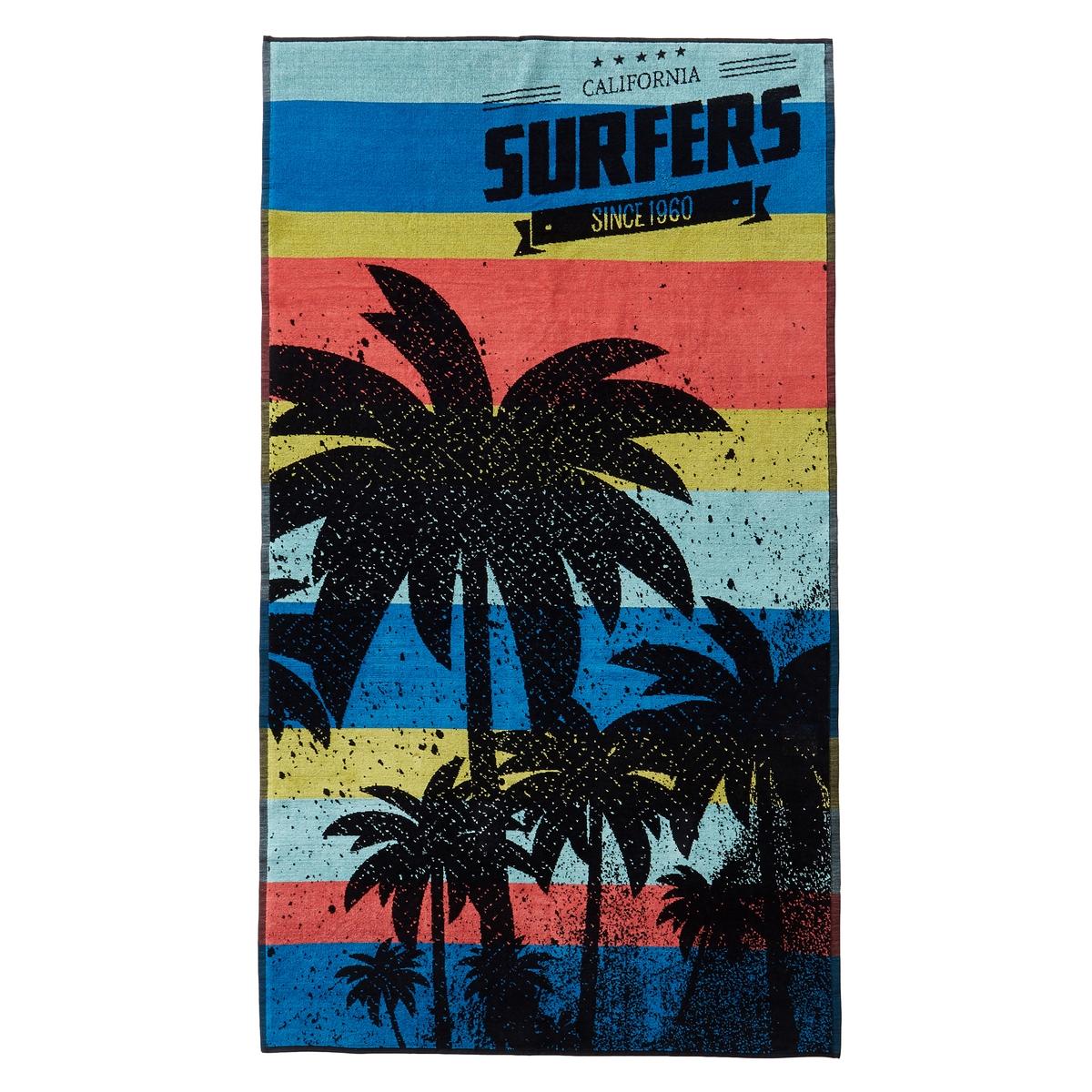 Полотенце пляжное SurfersПолотенце пляжное с жаккардовым рисунком SurfersХарактеристики пляжного полотенца Surfers :Махровая ткань с жаккардовым рисунком, 100% хлопок.420 г/м?.Машинная стирка при 60 °С.Размеры пляжного полотенца Surfers:100 x 180 см<br><br>Цвет: синий/ оранжевый