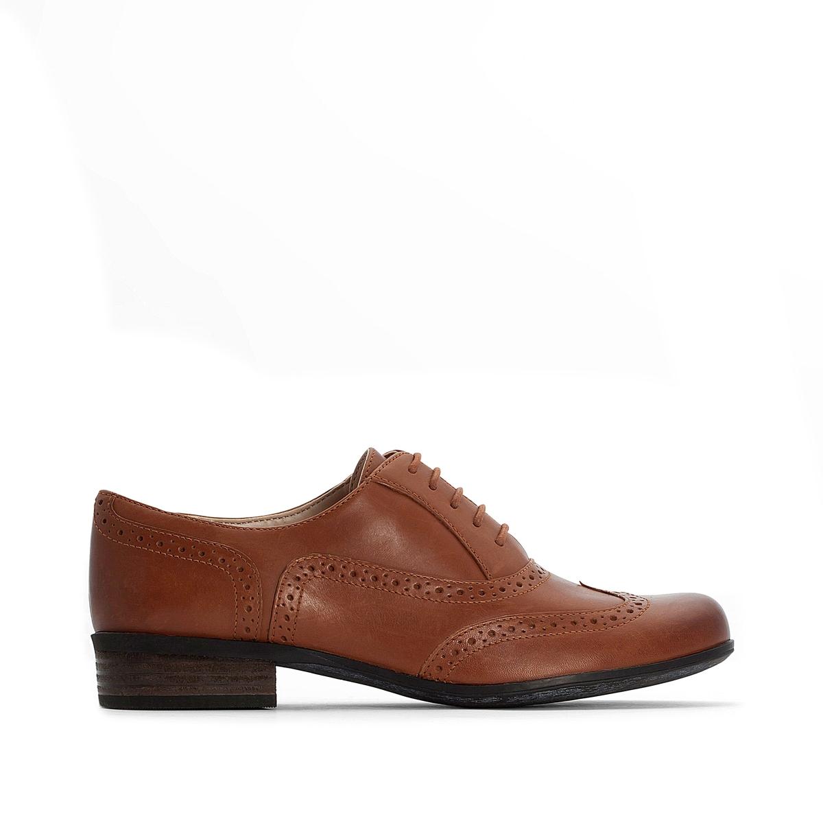 цена на Ботинки-дерби La Redoute С перфорированным мыском Hamble Oak 39 каштановый