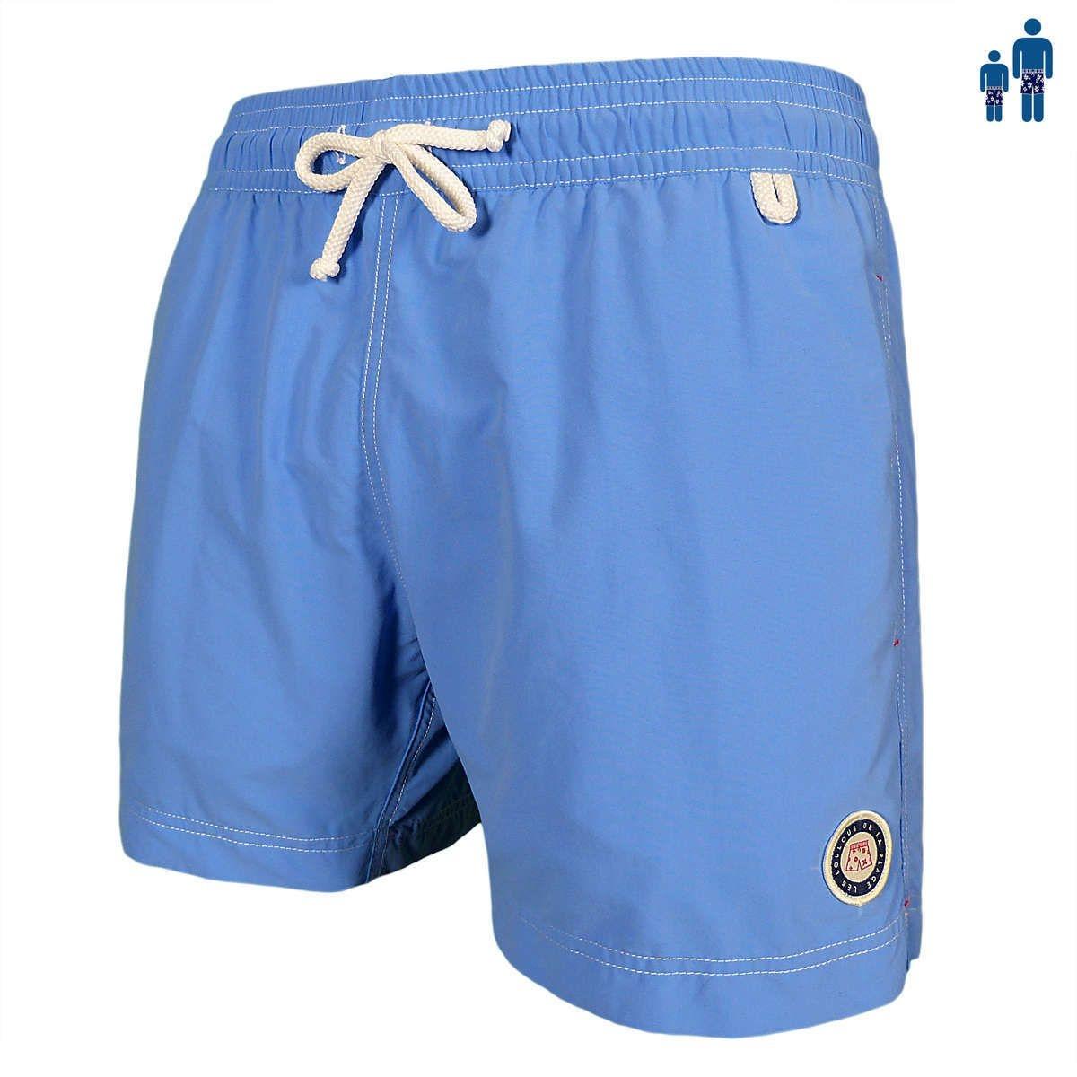 Montauk - Classic fit Maillot Short de bain homme bleu, azur, royal, ciel ou navy uni