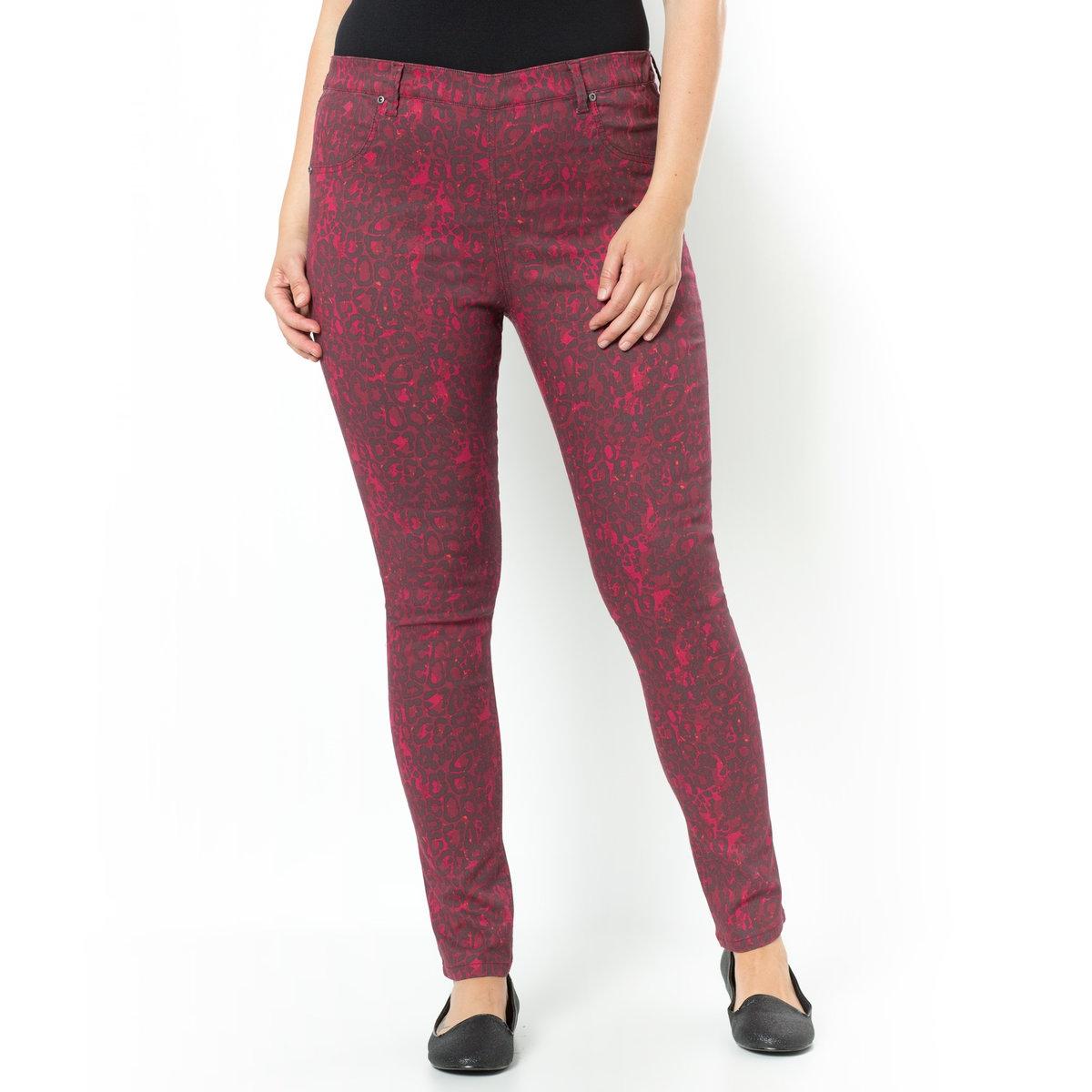 ДжеггинсыДжеггинсы. Незаменимая вещь в любом гардеробе ! Невероятно удобные в носке благодаря эластичному поясу. Ложные карманы спереди и накладные карманы сзади. Стрейчевый материал из 65% хлопка, 33% полиэстера, 2% эластана. Длина по внутр.шву 78 см, ширина по низу 14 см.<br><br>Цвет: леопард бордовый<br>Размер: 54 (FR) - 60 (RUS).56 (FR) - 62 (RUS).58 (FR) - 64 (RUS)