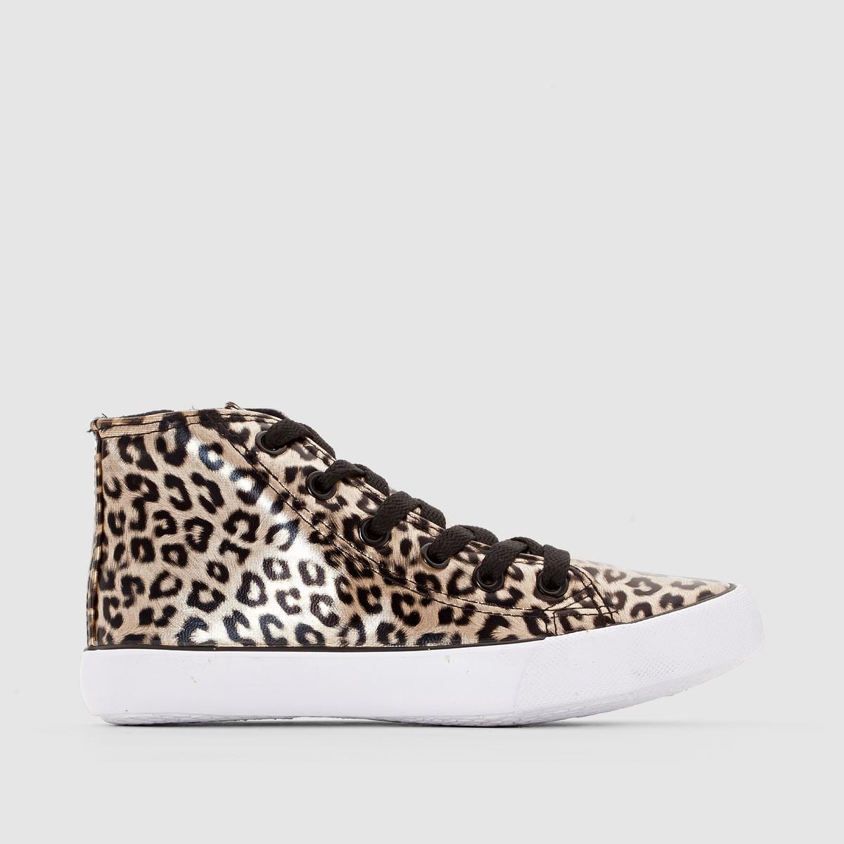 Кеды высокие с леопардовым принтомЭти высокие кеды на молнии с леопардовым принтом выглядят модно и подходят к любой одежде !<br><br>Цвет: леопардовый рисунок<br>Размер: 34