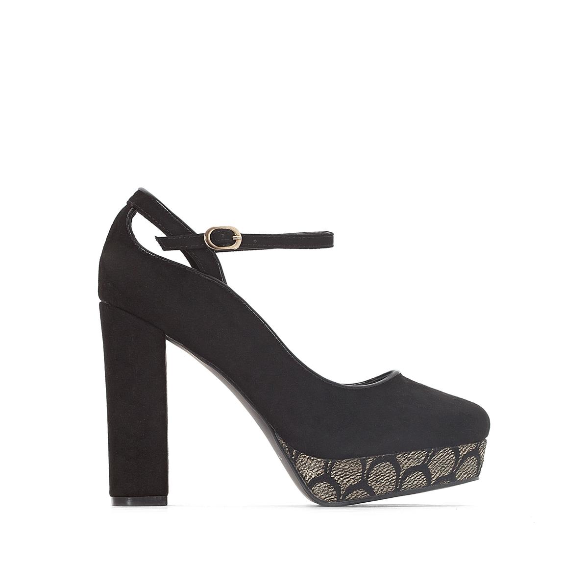 Туфли на платформе с жаккардовым рисунком