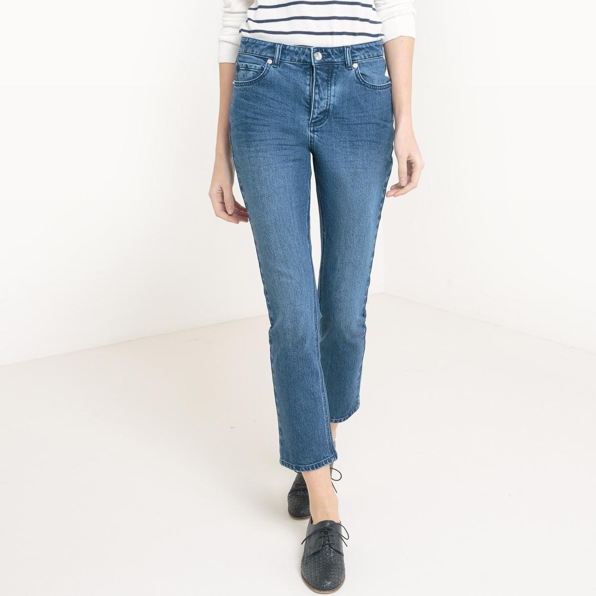 Джинсы укороченныеМатериал : 99% хлопка, 1% эластана                     Высота пояса : стандартная                    Покрой джинсов : стандартный, прямой                    Длина джинсов : длина 32                      Стирка : Машинная стирка при 30 °С в деликатном режиме                    Уход : Сухая чистка и отбеливание запрещены                    Машинная сушка : машинная сушка в умеренном режиме                    Глажка : при средней температуре   Этот товар большемерит, мы рекомендуем вам выбирать его на размер меньше, чем ваш обычный размер, для всех расцветок<br><br>Цвет: выбеленный,синий потертый,черный потертый,экрю<br>Размер: 27 (US) - 42/44 (RUS).25 (US) - 40/42 (RUS).29 (US) - 44/46 (RUS).28 (US) - 44 (RUS).25 (US) - 40/42 (RUS).37 (46/48).30 (US) - 46 (RUS).29 (US) - 44/46 (RUS).26 (US) - 42 (RUS).34 (US) - 50 (RUS).33 (US) - 48/50 (RUS).30 (US) - 46 (RUS)