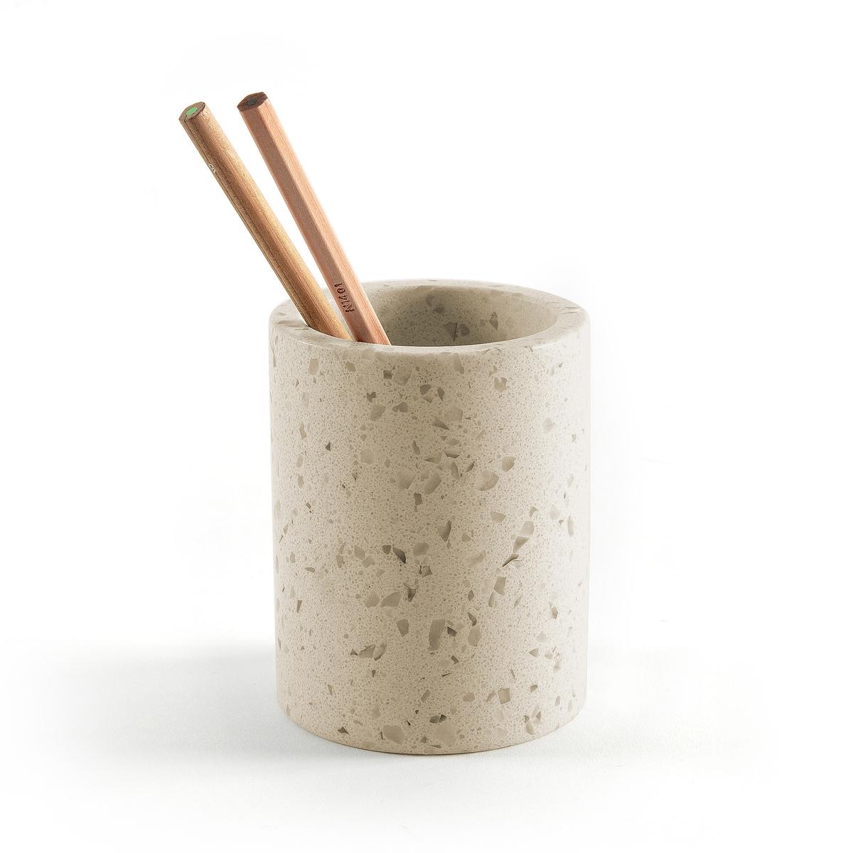 Горшок из бетона с мраморной крошкой, Terzetto