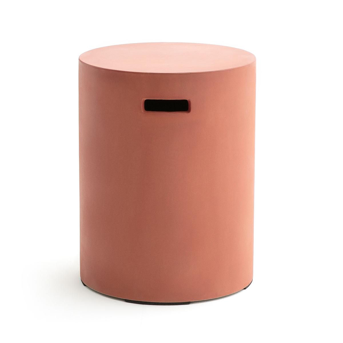 Столик журнальный TatumЖурнальный столик Tatum. Журнальный столик цилиндрической формы с ручками, который легко переносить, необработанный материал, который не боится воздействия погодных условий.Характеристики : - Из цементной ткани (неоднородная расцветка).Размер : - ?35 x 45 см .Размеры и вес упаковки :- Ш47 x В57 x 47 см, 14,5 см<br><br>Цвет: зеленый,темно-коричневый