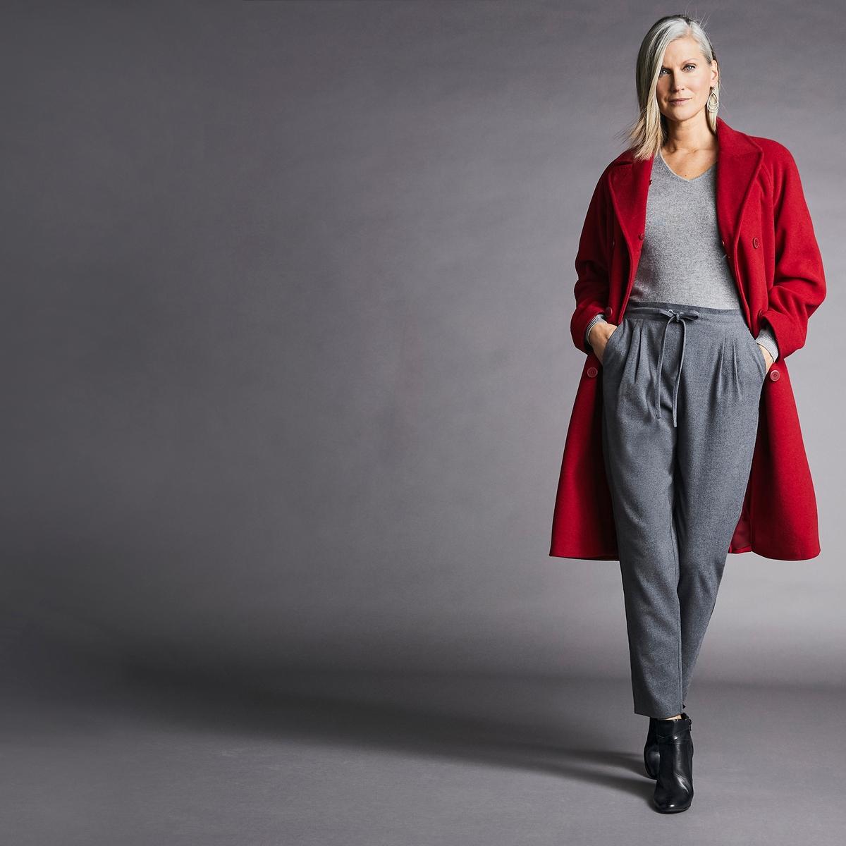 Imagen adicional 2 de producto de Abrigo de lana mezclada con cuello de pelo sintético - Anne weyburn