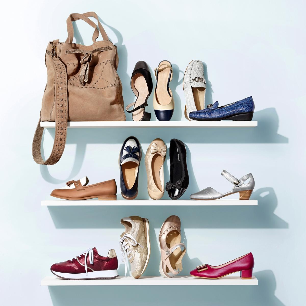 Imagen secundaria de producto de Zapatos de piel bicolor, con tacón - Anne weyburn