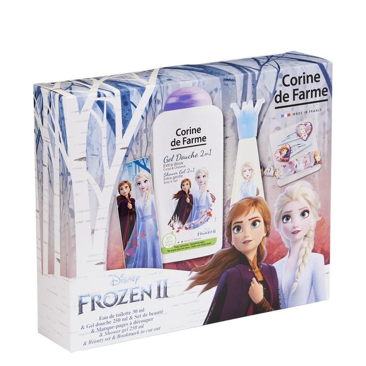 La Reine de Neiges 2 Elsa  , Coffret Eau de toilette 30   ml + Gel douche 250   ml + set de barrettes et bracelet 30 ML