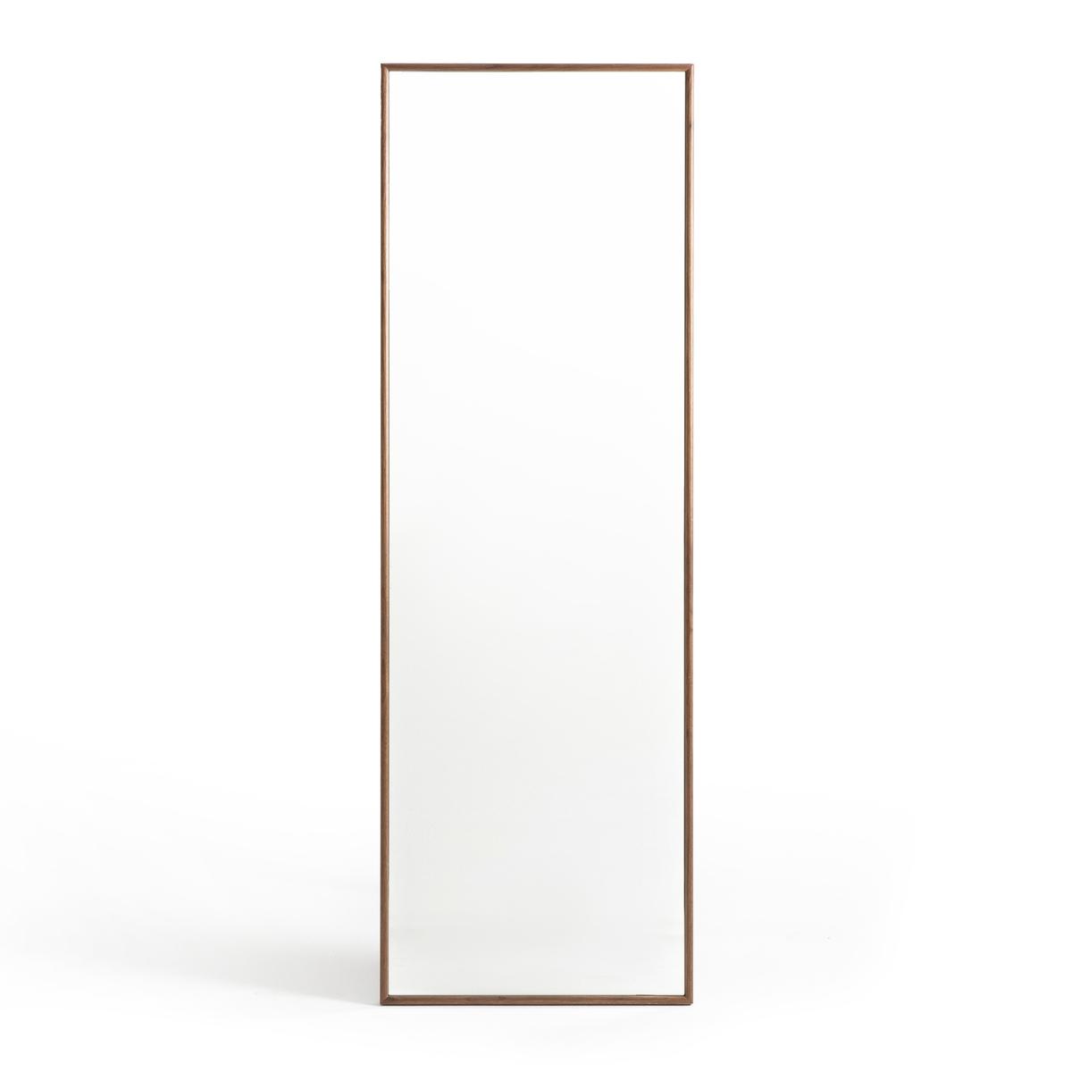 Зеркало-Психея LaRedoute С рамкой из массива орехового дерева Zindlo единый размер каштановый