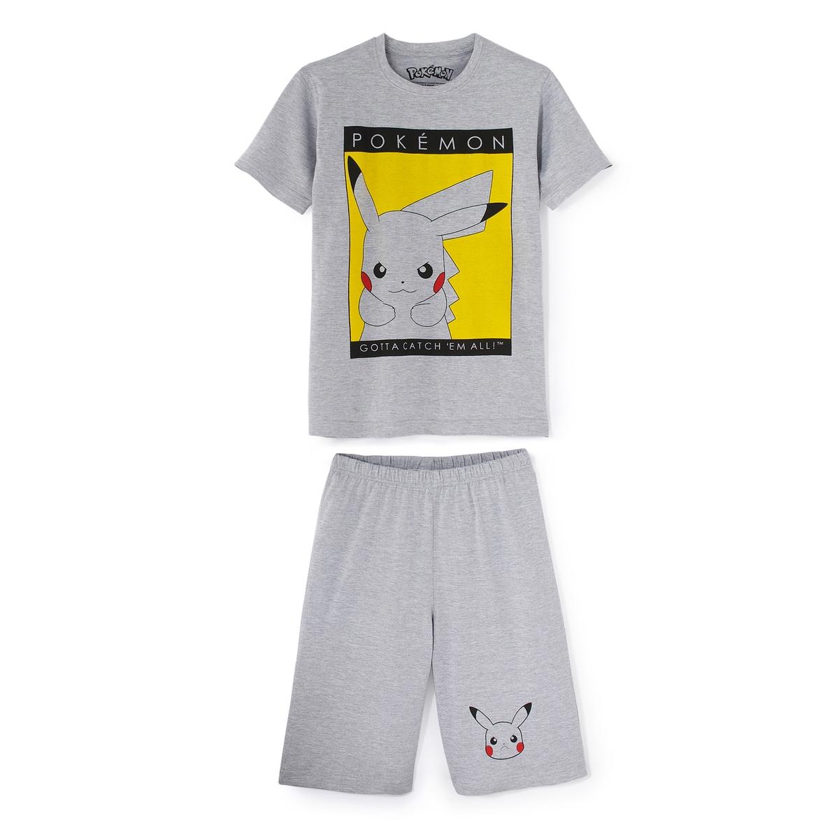Пижама с короткими рукавами и рисунком, 10 - 16 лет