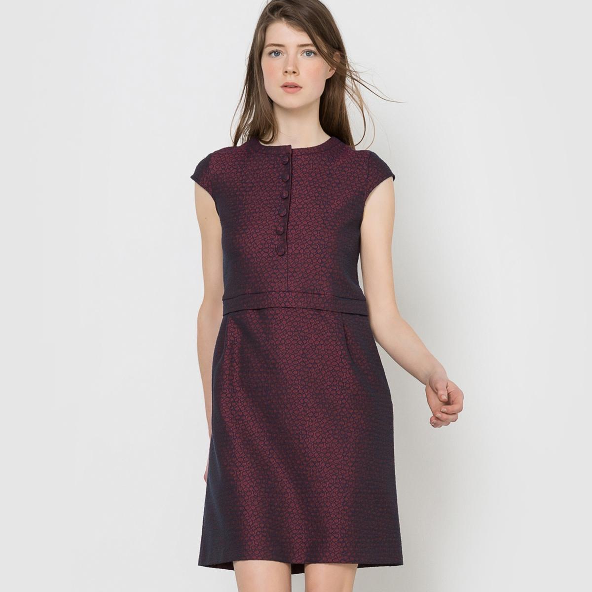 Платье жаккардовоеСостав и описание :Материал : 63% полиэстера, 35% хлопка, 2% эластана.Длина : 90 смМарка : MADEMOISELLE R.<br><br>Цвет: набивной рисунок<br>Размер: 40 (FR) - 46 (RUS)