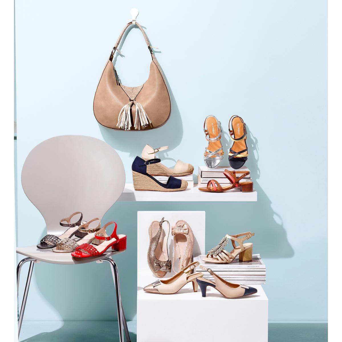 Imagen principal de producto de Sandalias de piel bicolor con tacón medio - Anne weyburn
