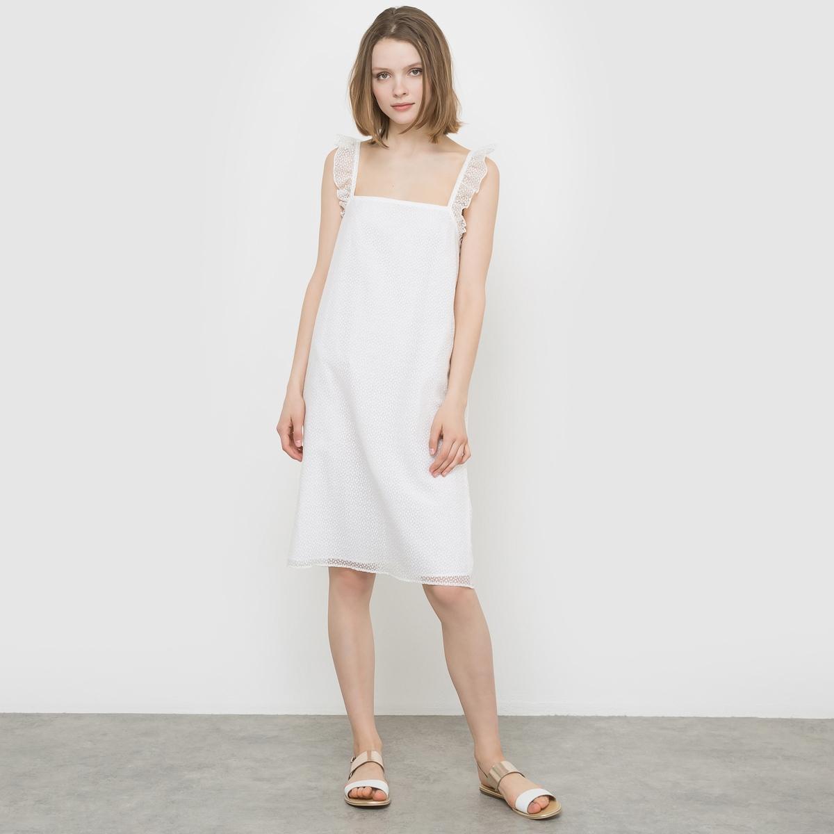 Платье из вуали с вышивкой от MADEMOISELLE R