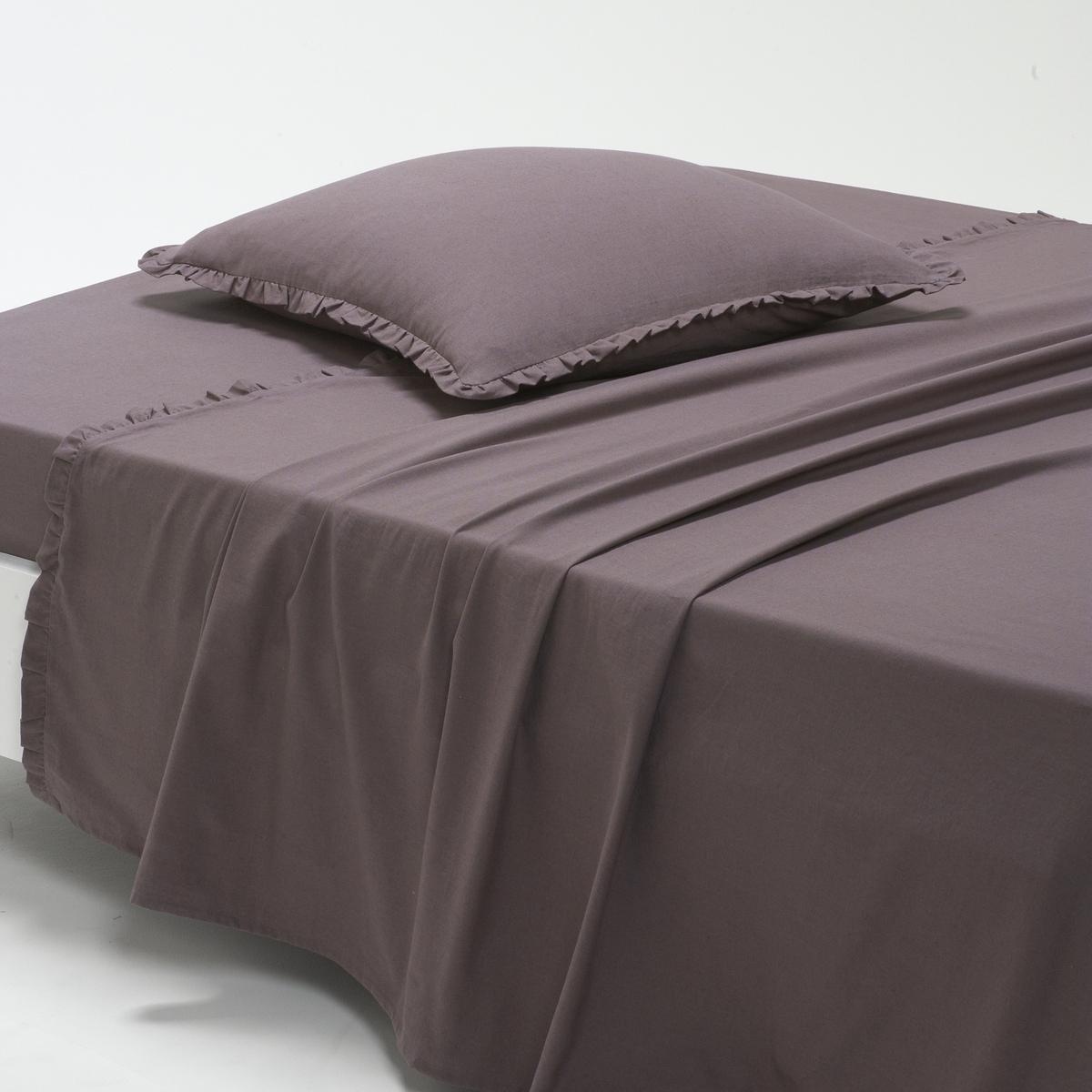 Простыня однотонная из полушерстяной стиранной ткани, OndinaПростыня однотонная из полушерстяной стиранной ткани Ondina для классического и изысканного стиля !Описание простыни Ondina :- Полушерстяная ткань, 55% хлопка, 45% льна, аутентичная и прочная, стиранная ткань для повышенной нежности и мягкости..Машинная стирка при 60 °С.- Отделка двойным воланом, со складками.  Размеры:180 x 290 см : 1-сп.240 х 290 см : 2-сп.270 x 290 см : 2-сп.<br><br>Цвет: серо-фиолетовый