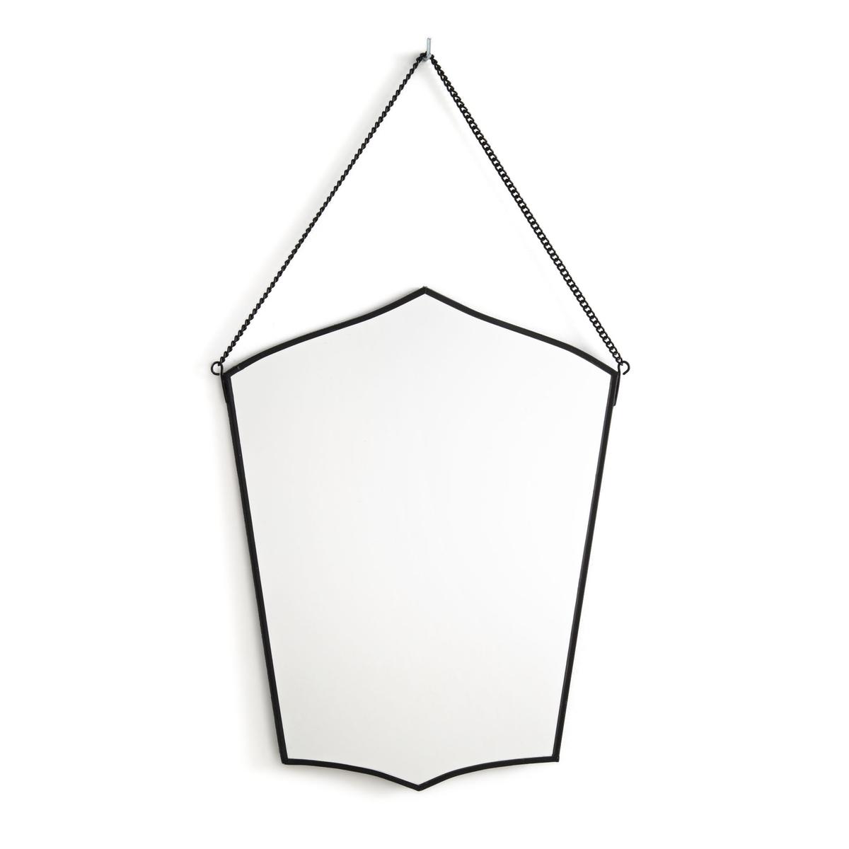 Зеркало La Redoute Из латуни Uyova единый размер черный зеркала la redoute uyova в форме домика единый размер желтый