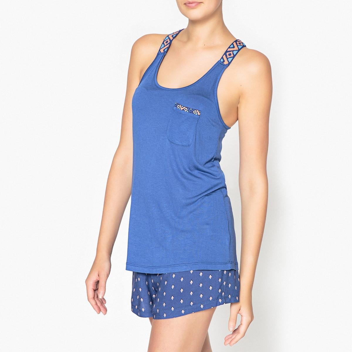 Пижама с шортами с этническим рисунком цены онлайн