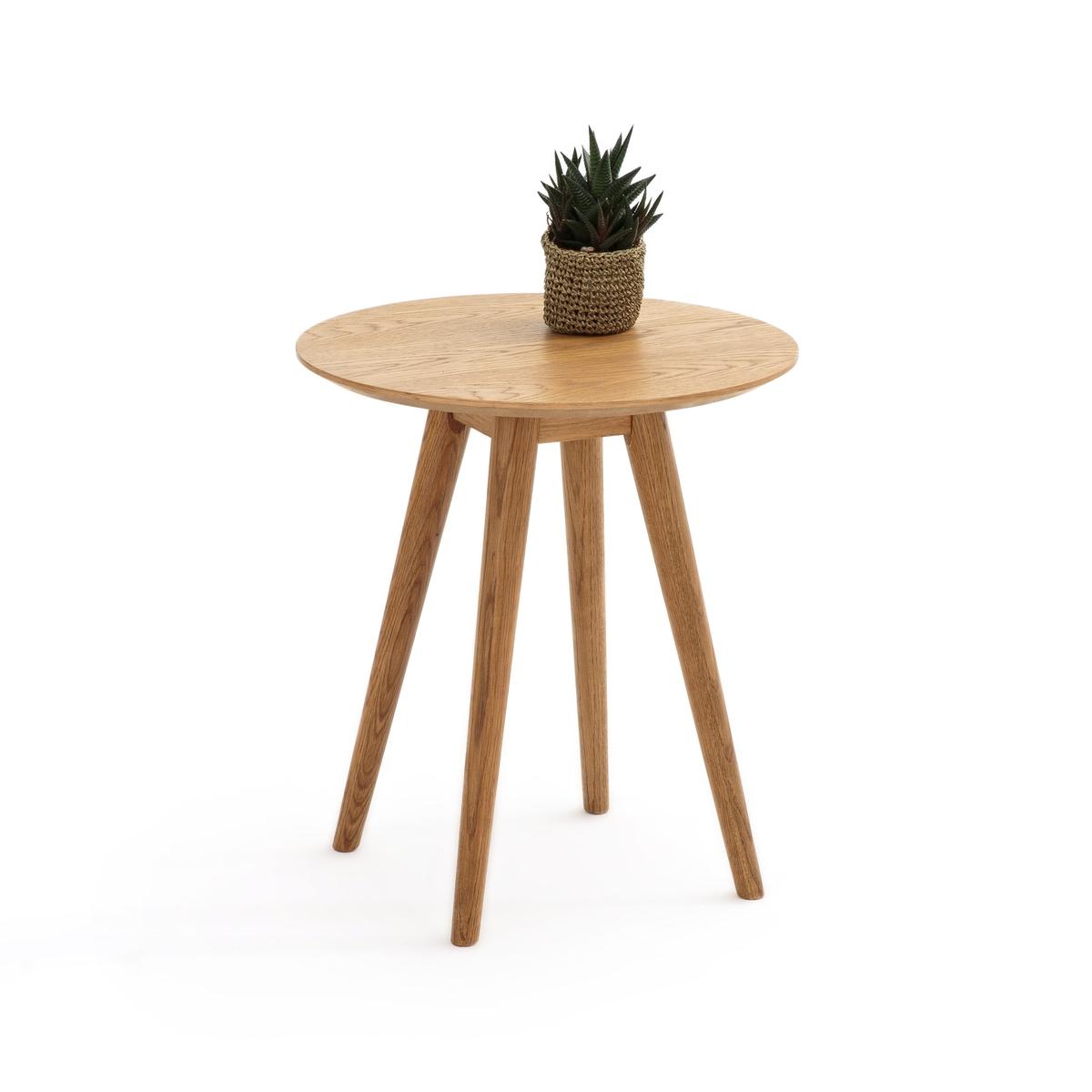 Столик La Redoute Журнальный из дуба QUILDA единый размер каштановый столик журнальный в винтажном стиле из обыкновенного дуба quilda