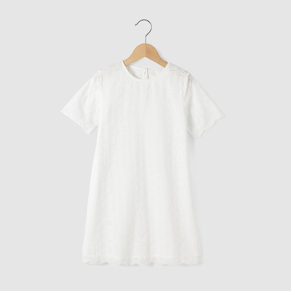 Платье-футляр с короткими рукавами, 3-12 лет