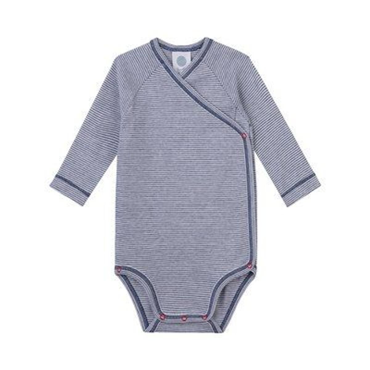 Sanetta Body portefeuille rayé à manches longues bébé