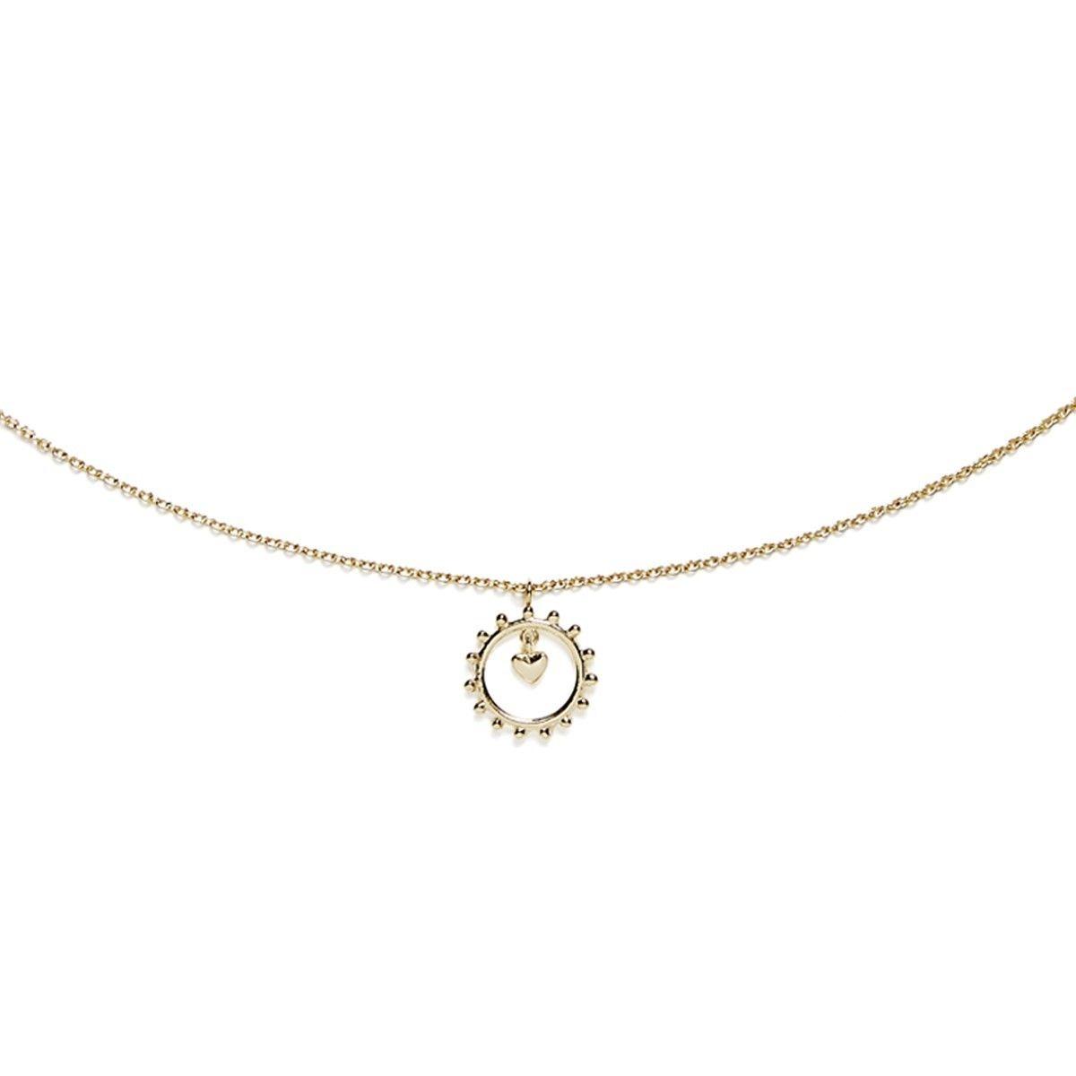 Collier en Vermeil Amulettes Coeur