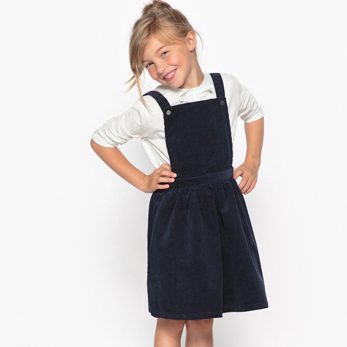 Платье-фартук из вельвета 3-12 лет