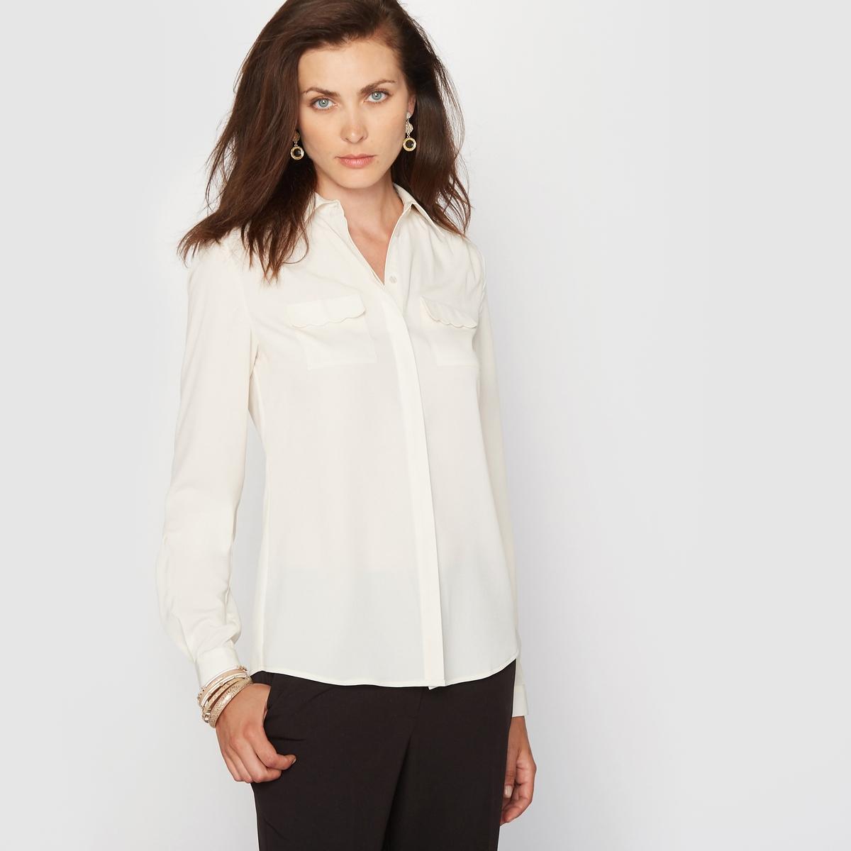 Рубашка из крепа от ANNE WEYBURN