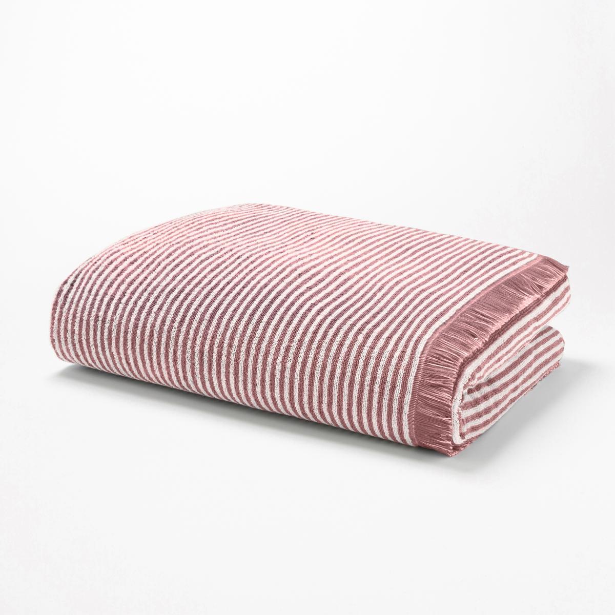 Полотенце La Redoute В полоску из махровой ткани HARMONY 50 x 100 см розовый