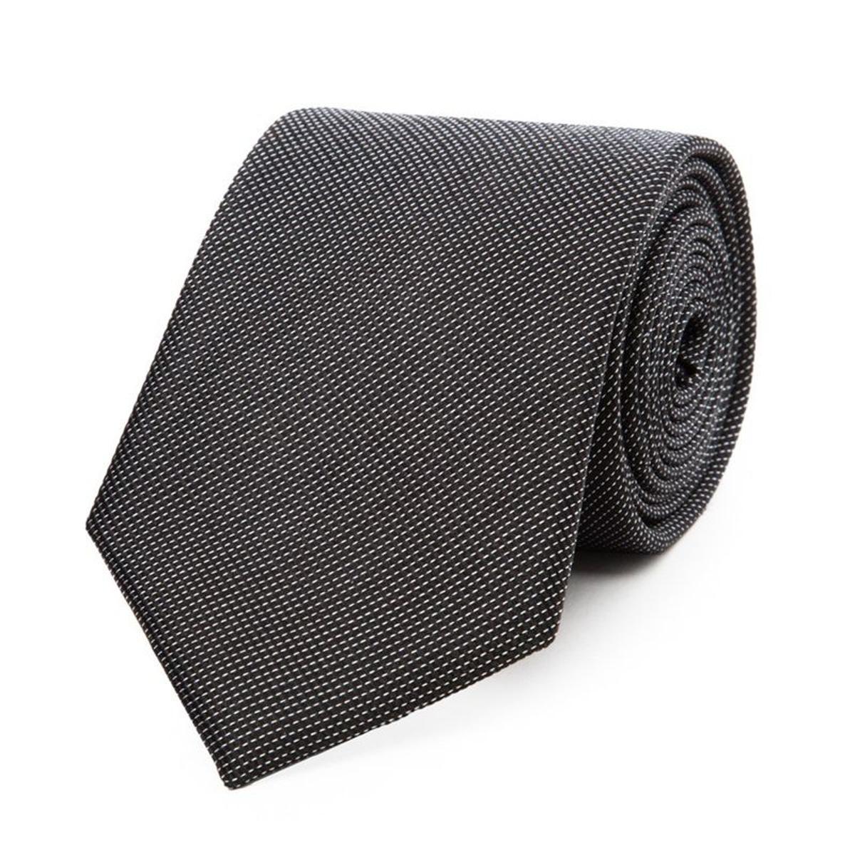 Cravate en pure soie piquée