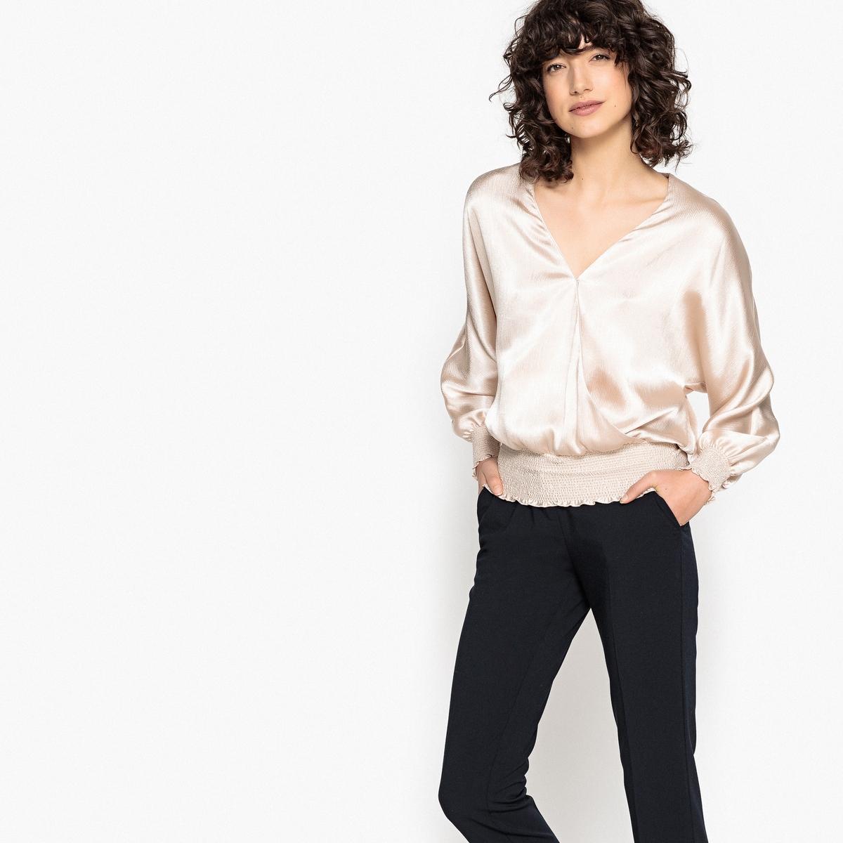 Блузка La Redoute В форме каш-кер края рукавов со складками 34 (FR) - 40 (RUS) розовый пижама каш кер