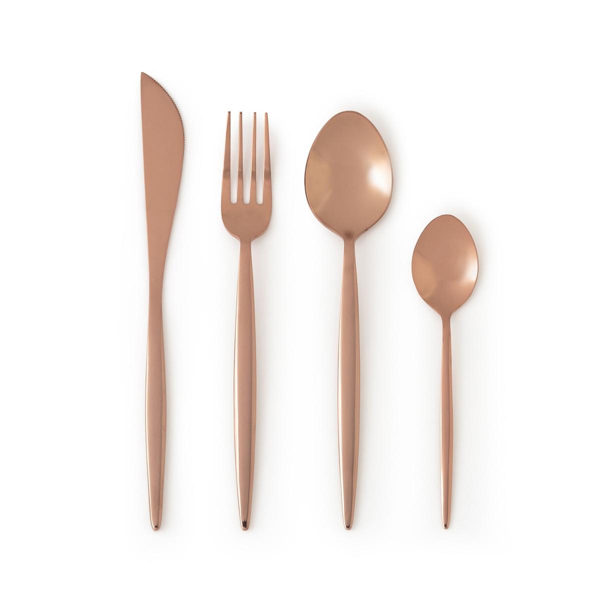 Комплект из 4 ножей Mandoulis4 ножа Mandoulis. Для элегантного и изящного стола… Из нержавеющей стали с покрытием золотистого цвета. Подходят для использования в посудомоечной машине.<br><br>Цвет: темно-золотистая сталь