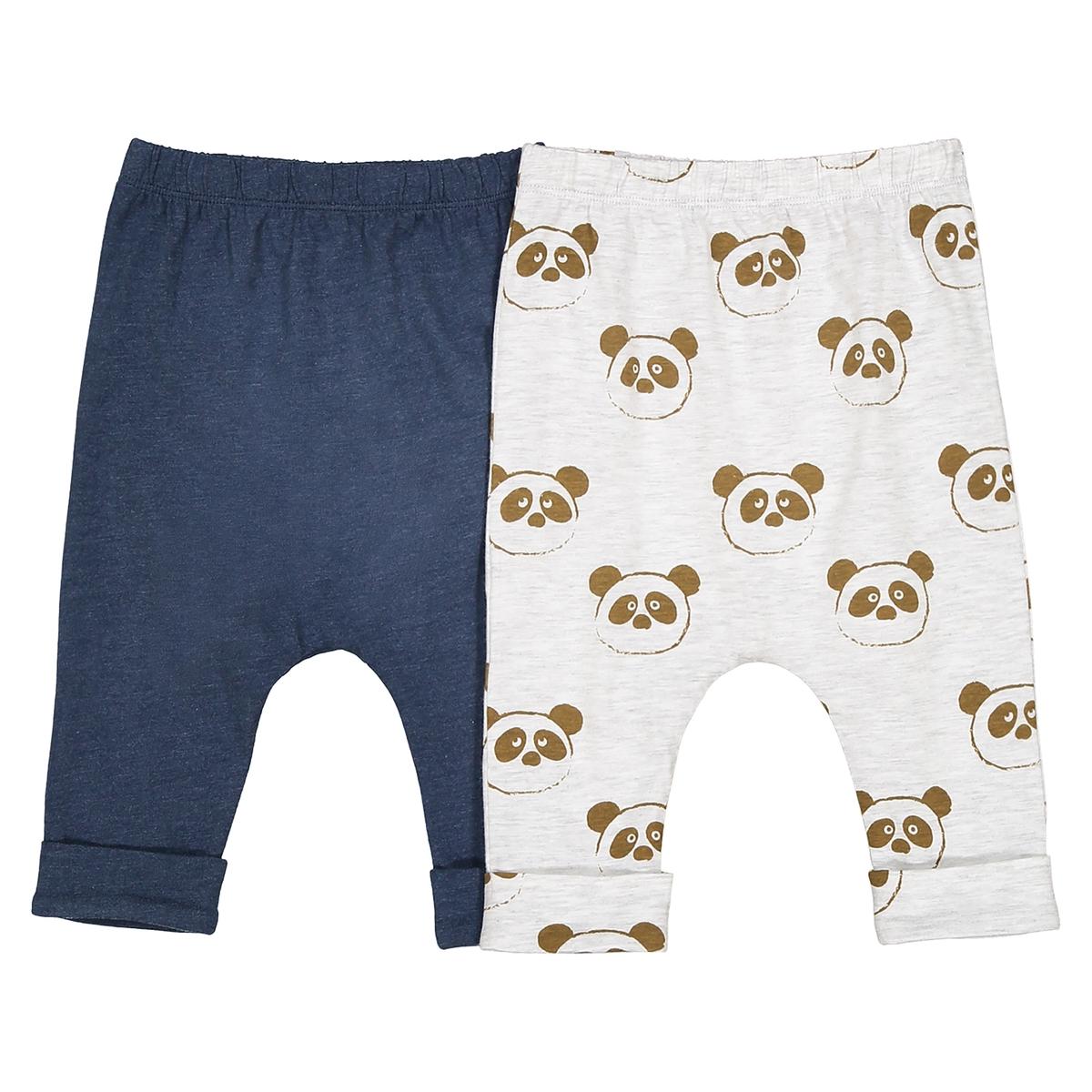 Confezione da 2 pantaloni alla turca fantasia, da 0 mesi a 2 anni