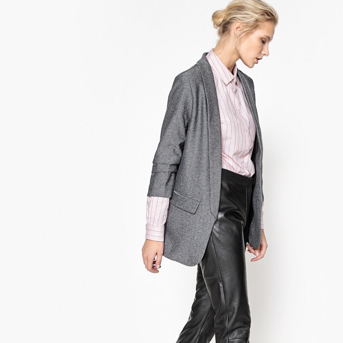 Куртка-блейзер с присборенными рукавами
